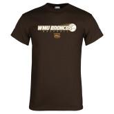 Brown T Shirt-WMU Broncos Baseball w/ Flying Ball