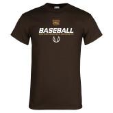 Brown T Shirt-Western Michigan University Baseball Flat
