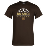 Brown T Shirt-WMU Soccer Half Ball