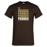 Brown T Shirt-Tennis Repeated