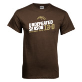 Brown T Shirt-Undefeated Season Football 2016