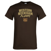 Brown T Shirt-Arched Western Michigan Alumni