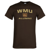 Brown T Shirt-Arched WMU Alumni