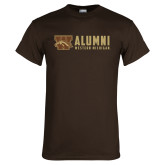 Brown T Shirt-Western Michigan Alumni Stacked