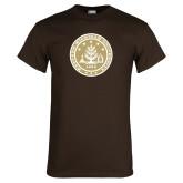 Brown T Shirt-WMU Seal Gold