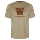 Performance Vegas Gold Tee-Western Michigan University w/ W