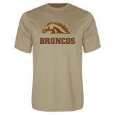 Performance Vegas Gold Tee-Broncos w/ Bronco Head