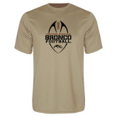 Syntrel Performance Vegas Gold Tee-Western Michigan Bronco Football w/ Ball