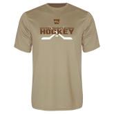 Syntrel Performance Vegas Gold Tee-Hockey w/ Crossed Sticks