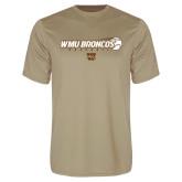 Performance Vegas Gold Tee-WMU Broncos Baseball w/ Flying Ball