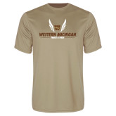 Performance Vegas Gold Tee-Western Michigan Track & Field Wings