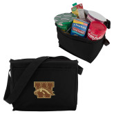 Koozie Six Pack Black Cooler-W w/ Bronco