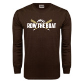 Brown Long Sleeve TShirt-Row the Boat