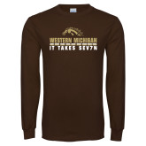 Brown Long Sleeve T Shirt-It Takes Sev7n