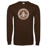 Brown Long Sleeve T Shirt-WMU Seal