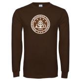 Brown Long Sleeve T Shirt-WMU Seal