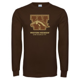 Brown Long Sleeve TShirt-Official Logo