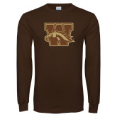 Brown Long Sleeve TShirt-W w/ Bronco
