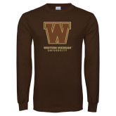 Brown Long Sleeve TShirt-Western Michigan University w/ W