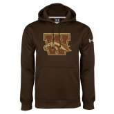 Under Armour Brown Performance Sweats Team Hoodie-W w/ Bronco