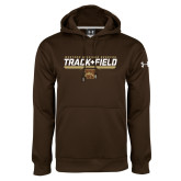 Under Armour Brown Performance Sweats Team Hoodie-Track & Field Flat w/ Bar