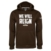 Under Armour Brown Performance Sweats Team Hoodie-We Will Reign