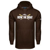 Under Armour Brown Performance Sweats Team Hood-Row the Boat