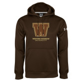 Under Armour Brown Performance Sweats Team Hoodie-Western Michigan University w/ W