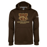 Under Armour Brown Performance Sweats Team Hoodie-Baseball
