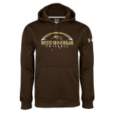 Under Armour Brown Performance Sweats Team Hoodie-Western Michigan Football Flat w/ Ball