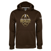 Under Armour Brown Performance Sweats Team Hoodie-Western Michigan Bronco Football w/ Ball