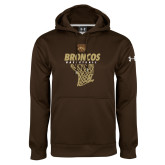 Under Armour Brown Performance Sweats Team Hoodie-Broncos Basketball Hanging Net
