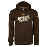 Under Armour Brown Performance Sweats Team Hoodie-Western Michigan Broncos Hockey