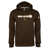Under Armour Brown Performance Sweats Team Hoodie-WMU Broncos Baseball w/ Flying Ball