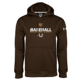 Under Armour Brown Performance Sweats Team Hoodie-Western Michigan University Baseball Flat