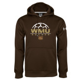Under Armour Brown Performance Sweats Team Hoodie-WMU Soccer Half Ball