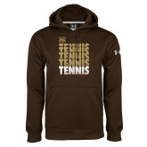 Under Armour Brown Performance Sweats Team Hoodie-Tennis Repeated