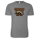 Next Level SoftStyle Heather Grey T Shirt-W w/ Bronco