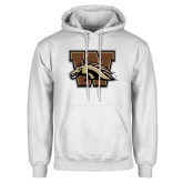 White Fleece Hood-W w/ Bronco