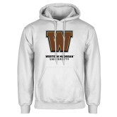 White Fleece Hoodie-Western Michigan University w/ W