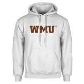 White Fleece Hoodie-WMU