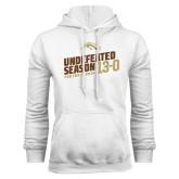 White Fleece Hoodie-Undefeated Season Football 2016