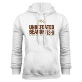 White Fleece Hoodie-Undefeated Season 13-0 Football 2016