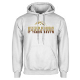 White Fleece Hoodie-It Takes Sev7n