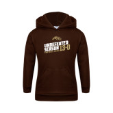 Youth Brown Fleece Hood-Undefeated Season Football 2016