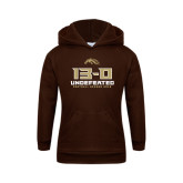 Youth Brown Fleece Hoodie-13-0 Undefeated Football Season 2016