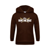 Youth Brown Fleece Hood-Row the Boat