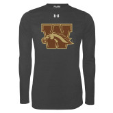 Under Armour Carbon Heather Long Sleeve Tech Tee-W w/ Bronco