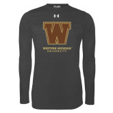 Under Armour Carbon Heather Long Sleeve Tech Tee-Western Michigan University w/ W