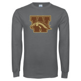 Charcoal Long Sleeve T Shirt-W w/ Bronco